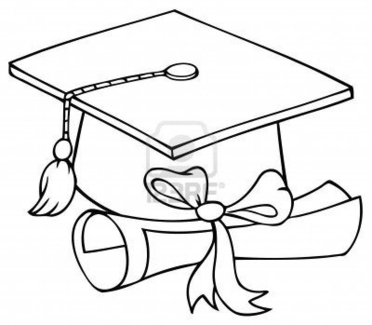 Graduation Cap Coloring Page | Graduation Cap Coloring Page