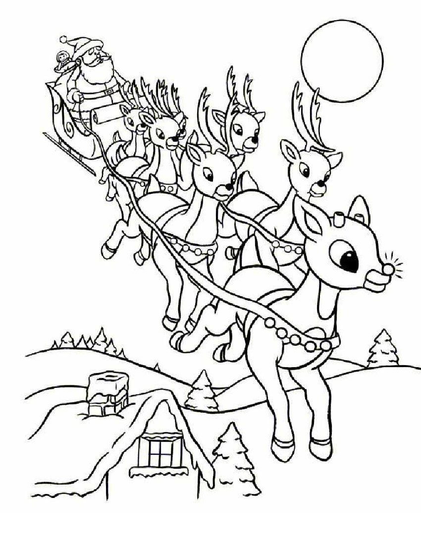 Online Rudolph And Other Reindeer Printables And Coloring