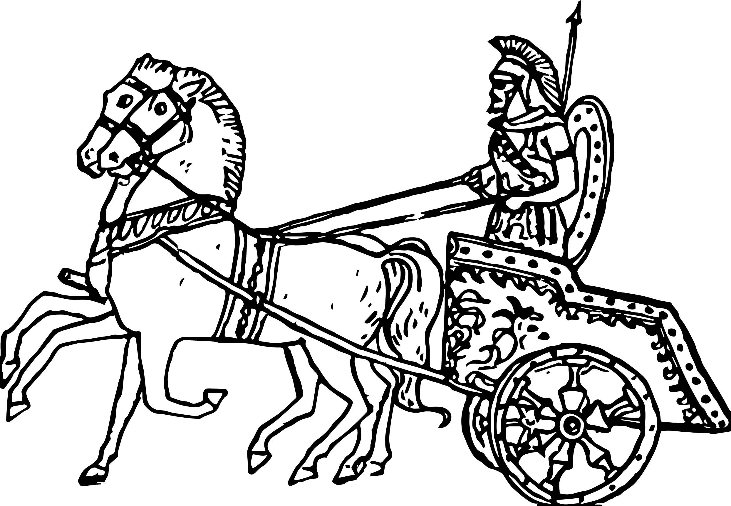 Ancient-roman-chariot-racing-coloring-page In 2019   Roman