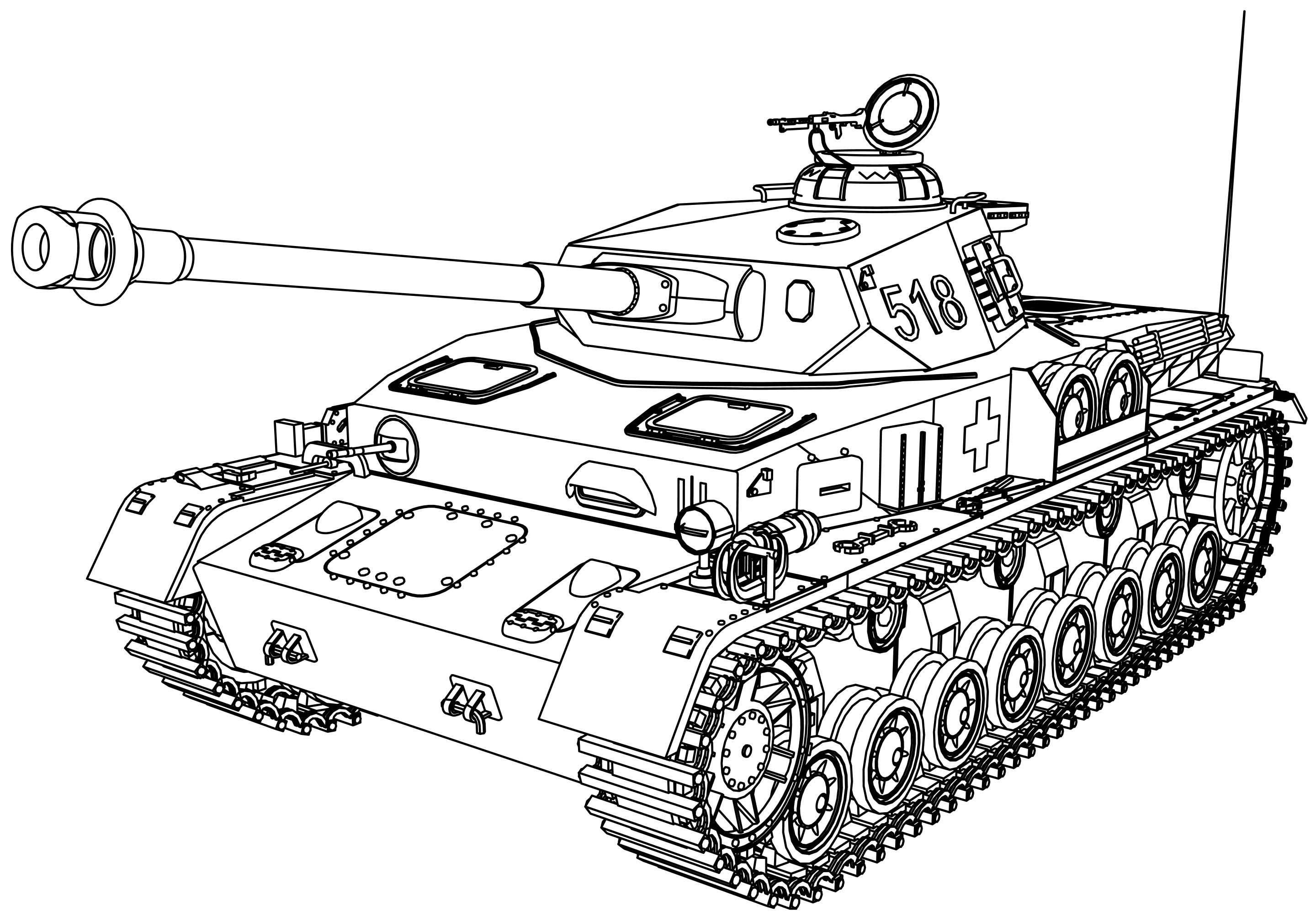 Panzer Tank Coloring Page | Coloring Pages, Coloring Pages