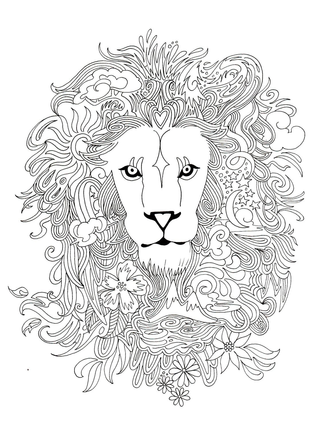 Lionheart Coloring Page By Borrelli Illustrations | Animal