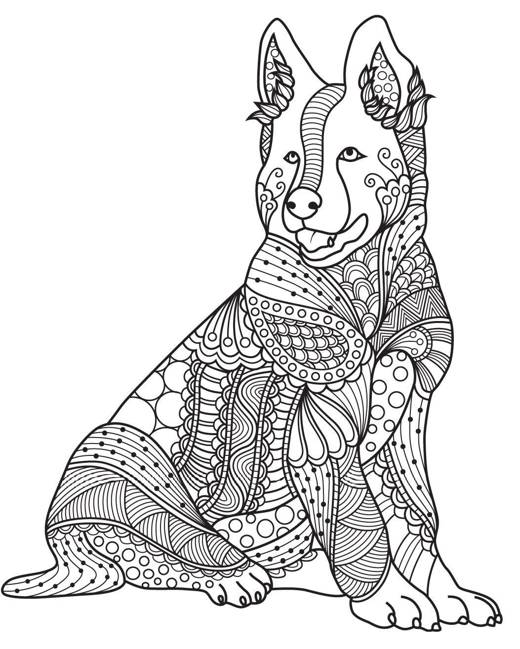 Dog | Colorish: Coloring Book For Adults Mandala Relax By