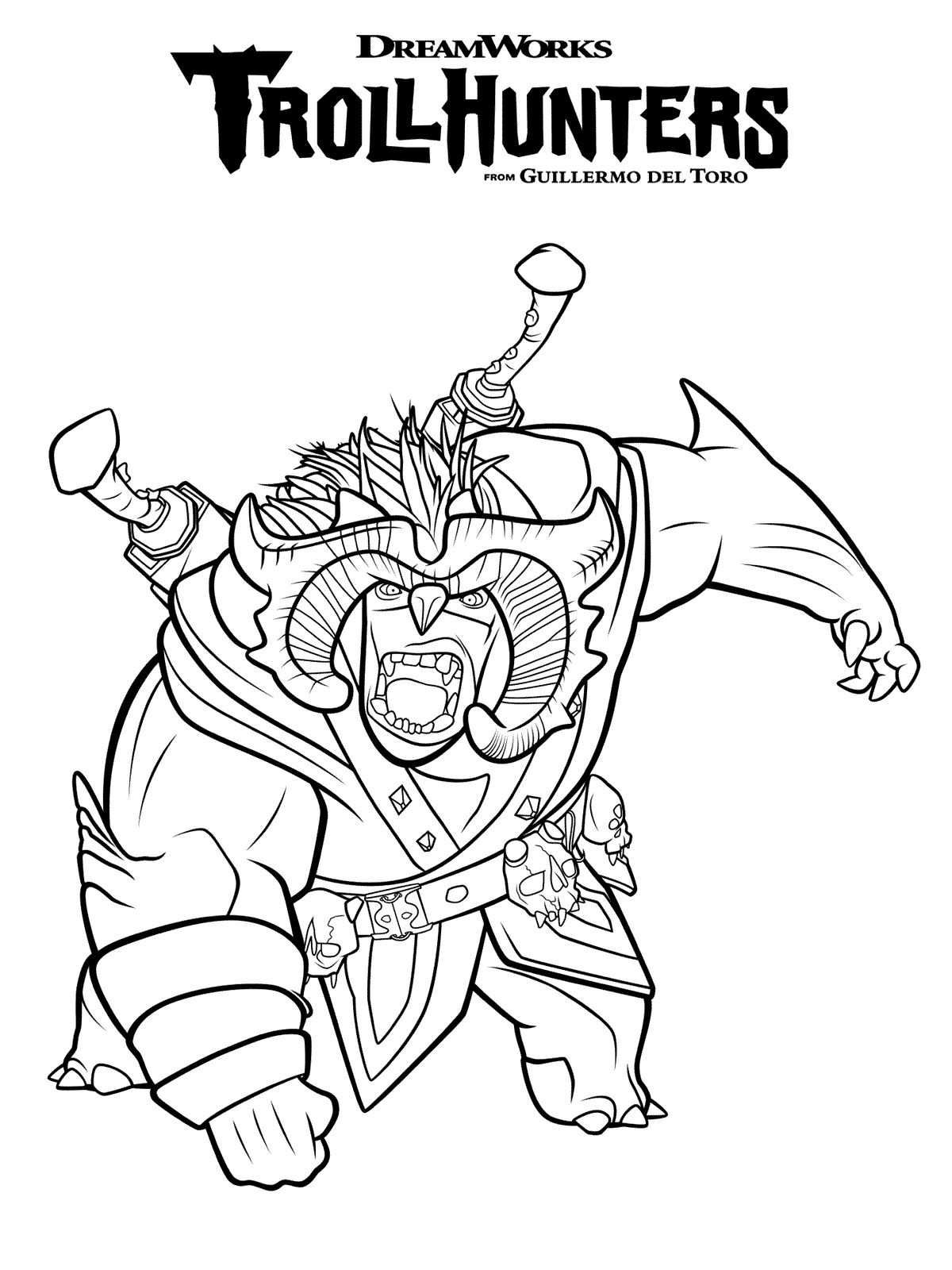 Coloring Page Trollhunters: Scary Bular In 2019 | Coloring