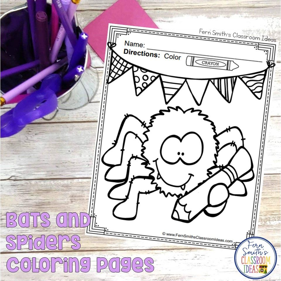 Bats And Spiders Coloring Pages - 36 Page Bats And Spiders