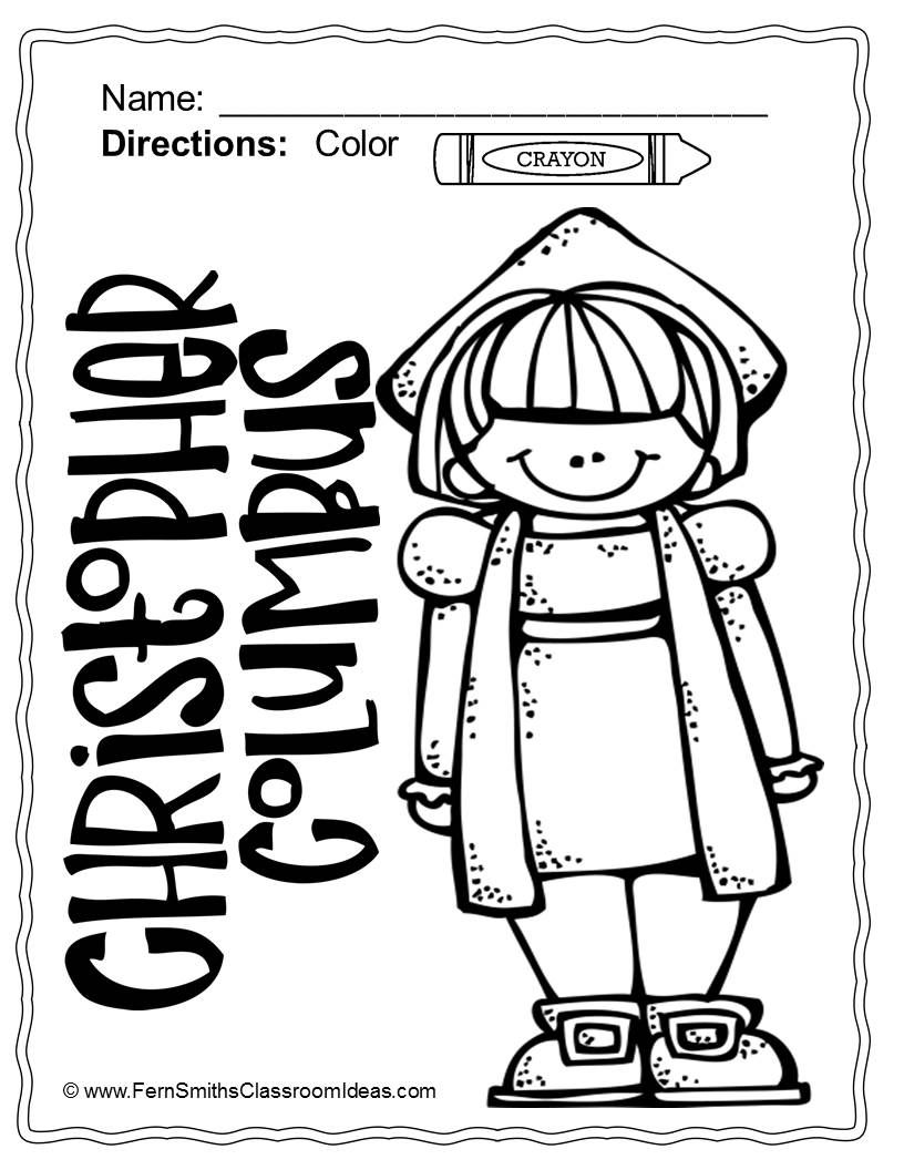 Columbus Day Coloring Pages Dollar Deal - 21 Pages Of