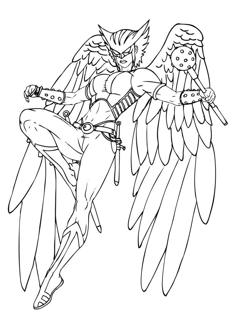 Hawkgirl Coloring Pages | Hawkgirl Coloring Pages - Az