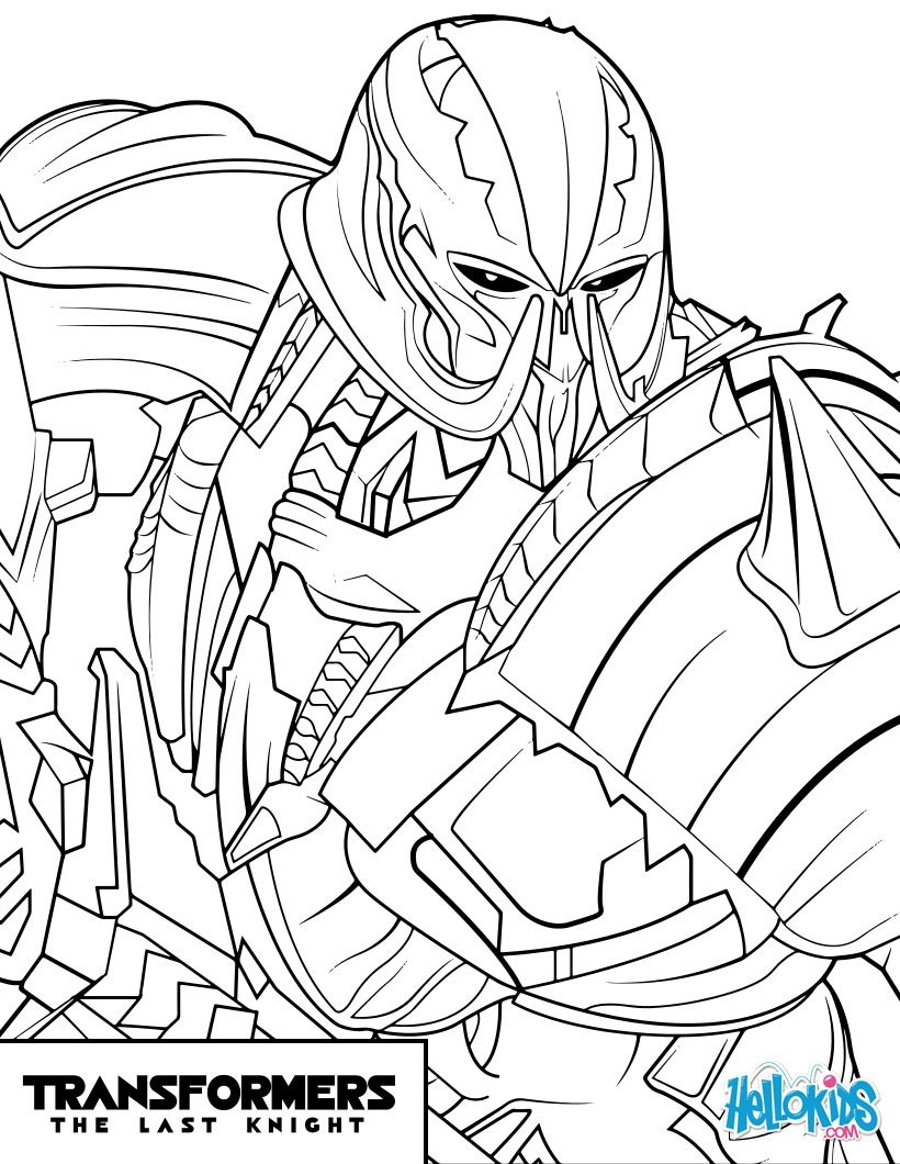 Transformers Megatron Coloring Page From The New
