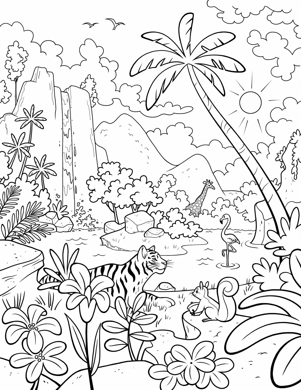 Our Beautiful World! A Lds Primary Coloring Page From Lds