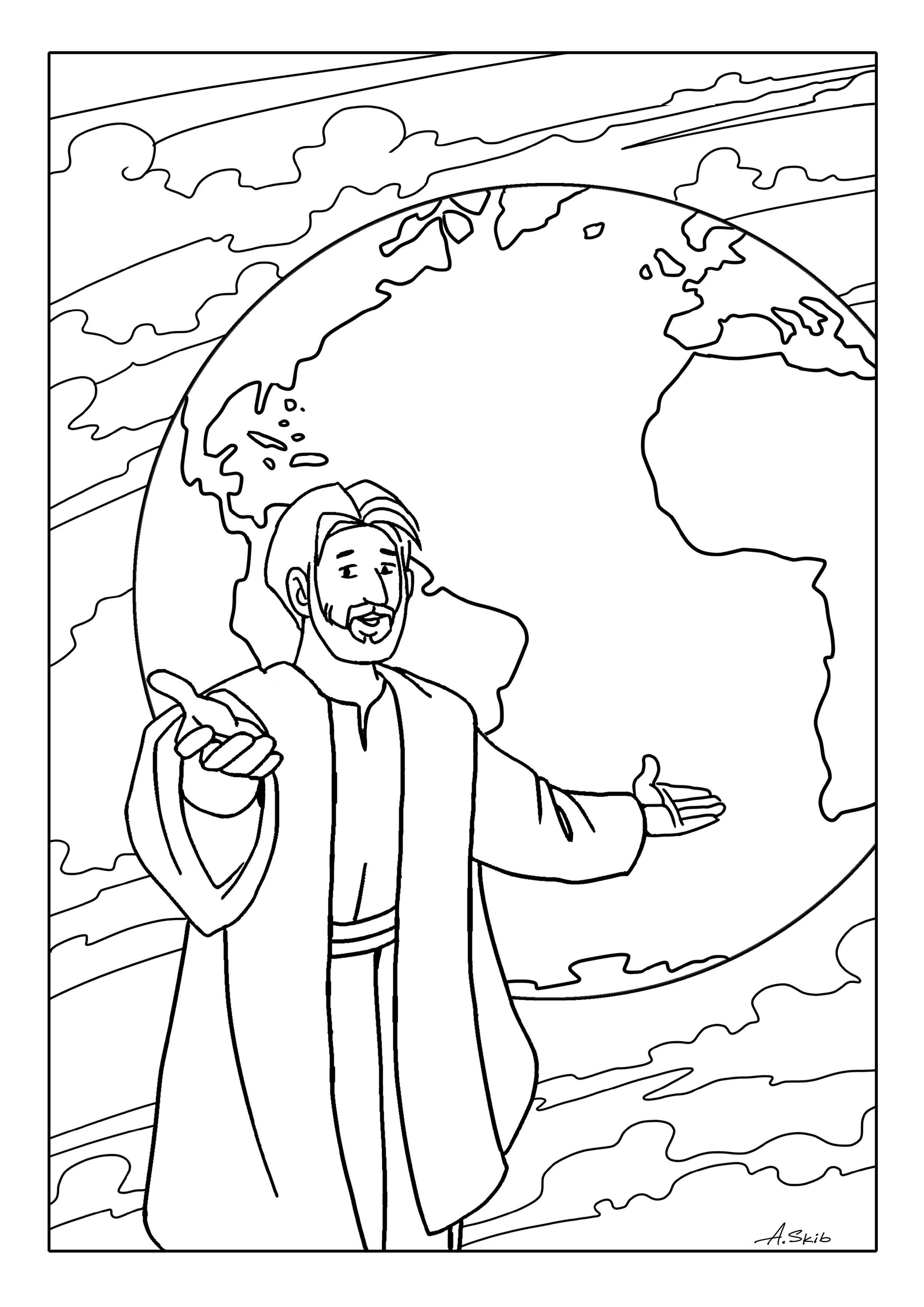 Free Coloring Pages The Great Commission | Bible Coloring