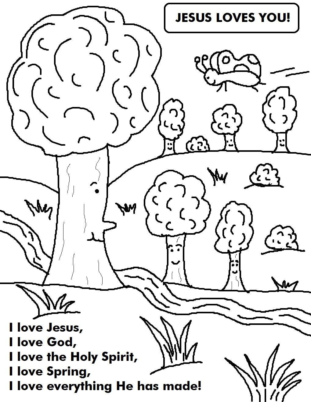 Spring Coloring Page | Thanksgiving Coloring Pages, Sunday