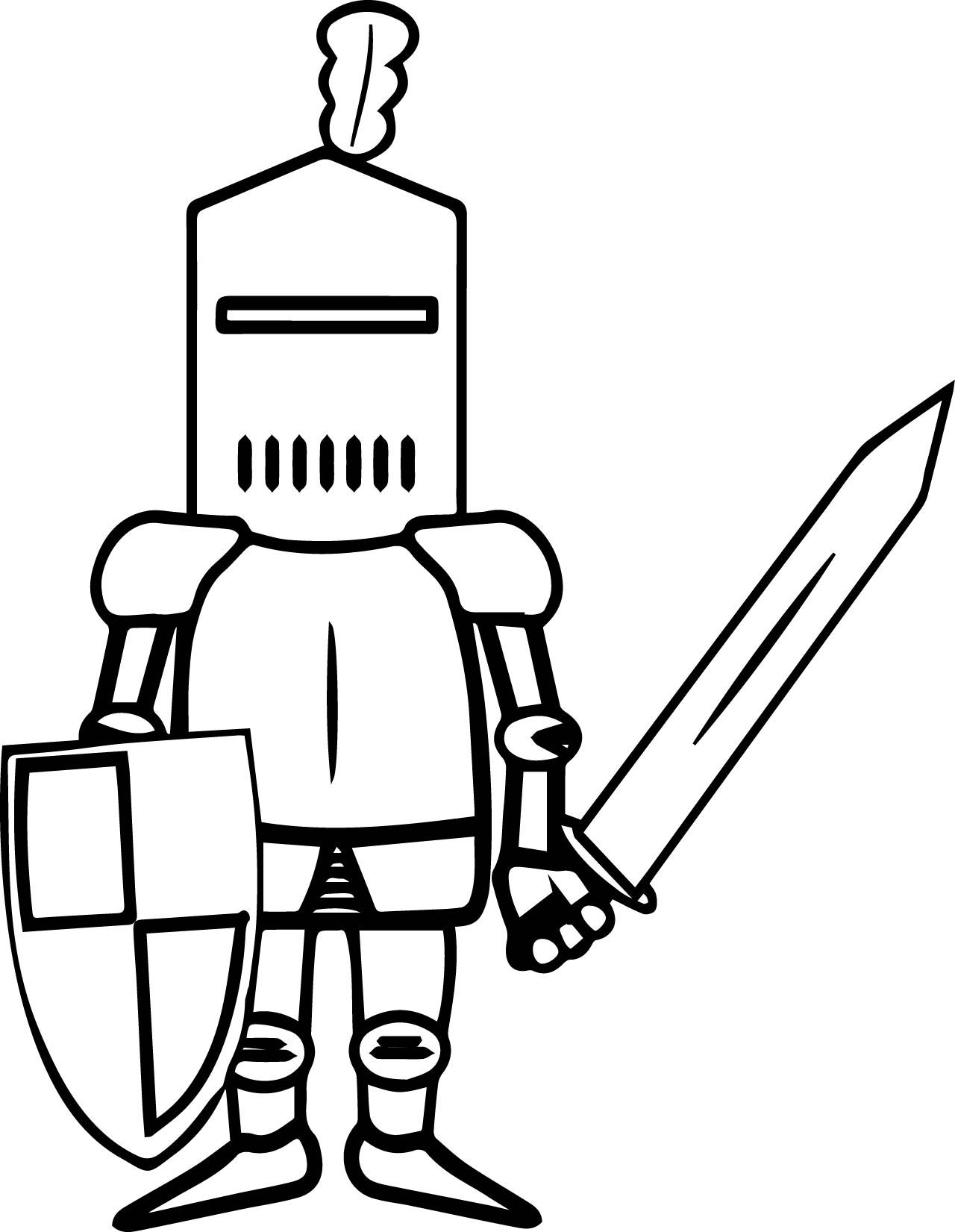 Knight Sword Coloring Page | Knight Sword, Coloring Pages