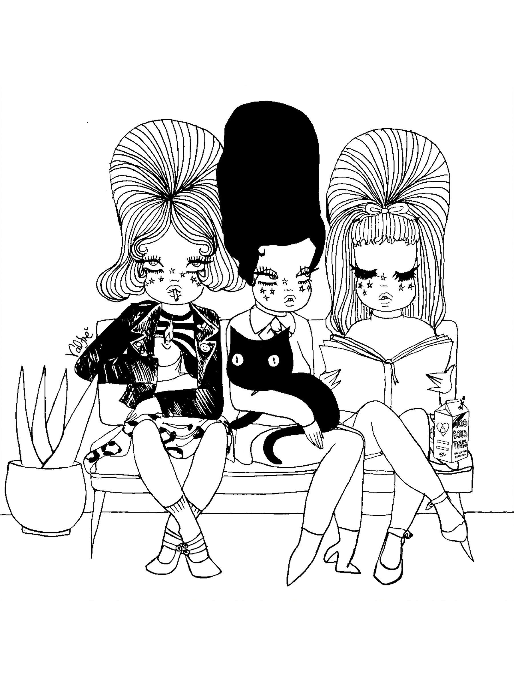 Waiting Room Valfre Coloring Page | Coloring Pages, Adult