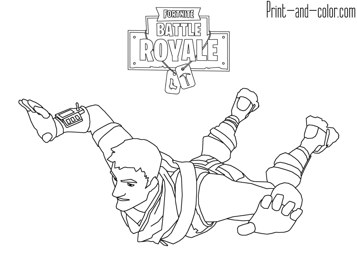 Fortnite | For The Kids | Coloring Pages To Print, Coloring