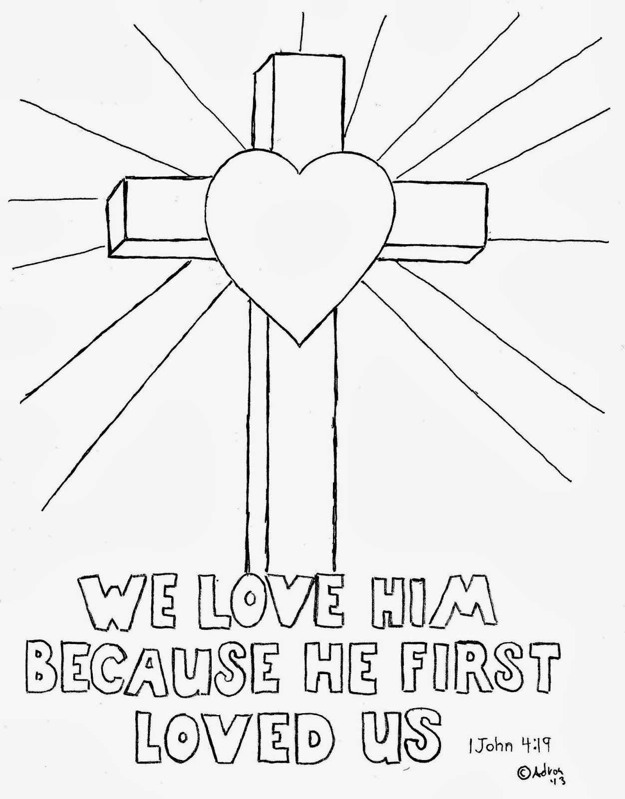 Cross Drawing For Kids Coloring Pages For Kidsmr Adron