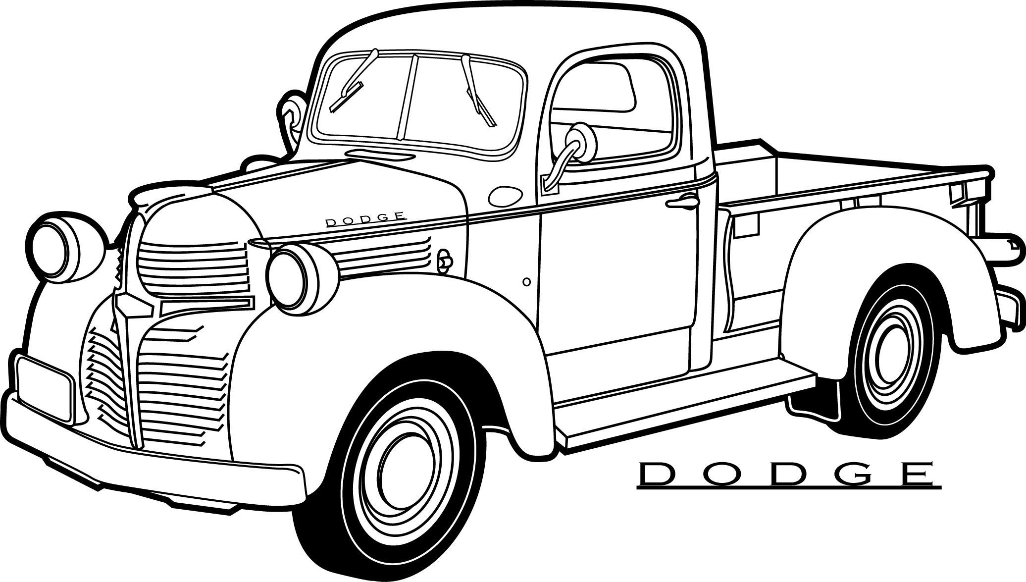 30 Coloring Pages Of Cars And Trucks | Auto's | Truck