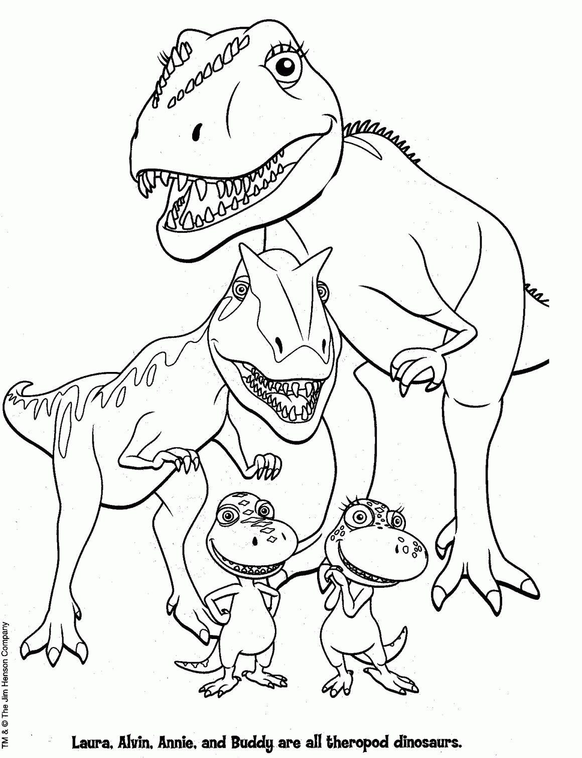 Dinosaur Train Coloring Pages Free Printable Dinosaur Train
