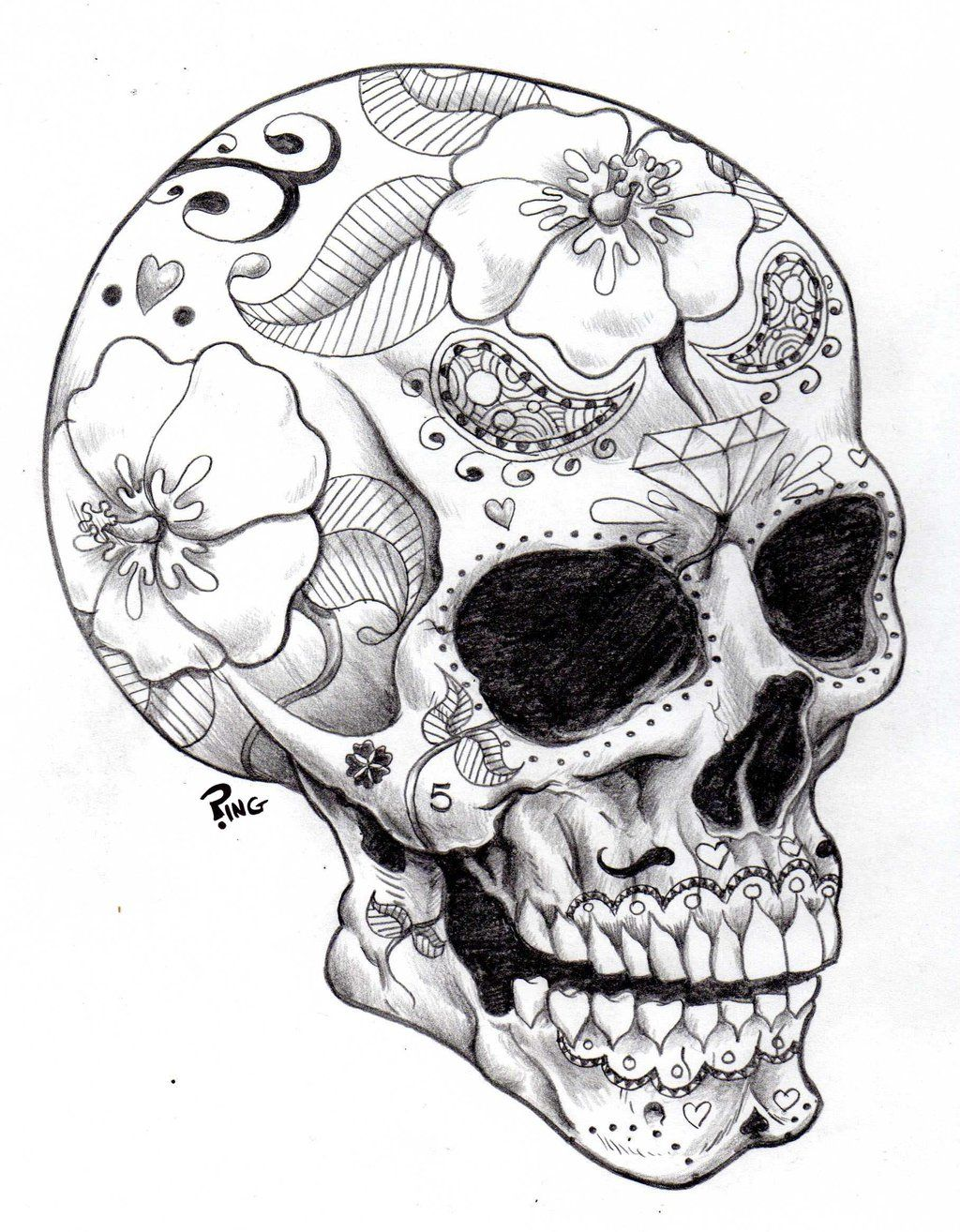 Sugar Skulls Coloring Pages | Printable Coloring Pages | Day