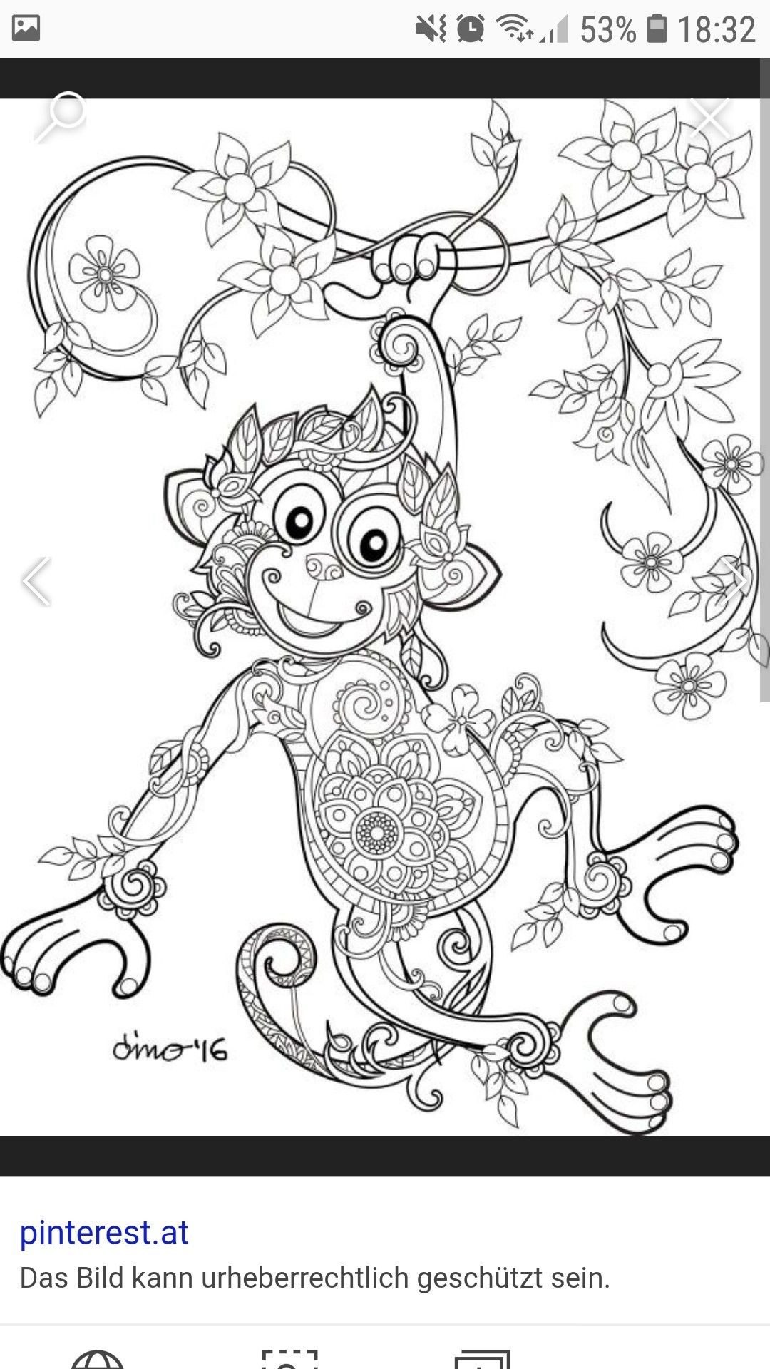 Pin By Mahsa On Dekorate | Monkey Coloring Pages, Coloring