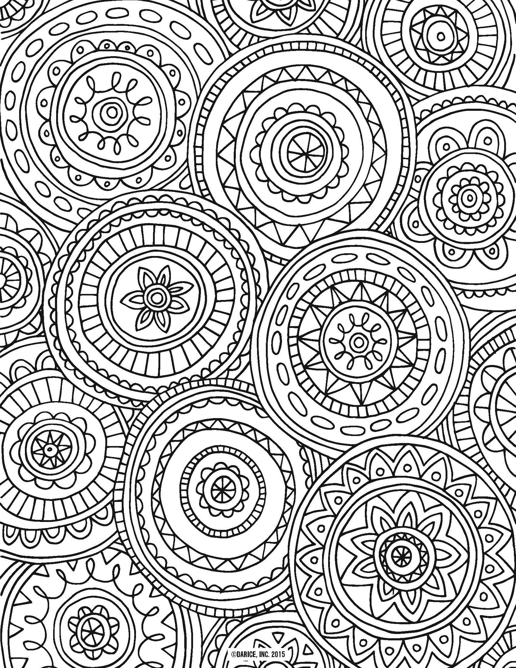 � 9 Free Printable Adult Coloring Pages | Adult Colouring