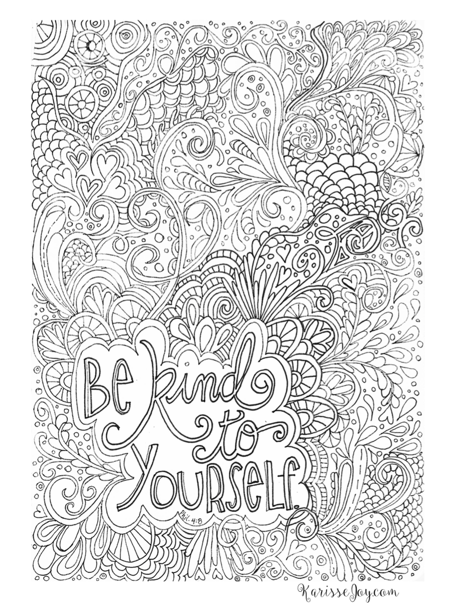 Free Inspirational Coloring Book Page #creativequiettime