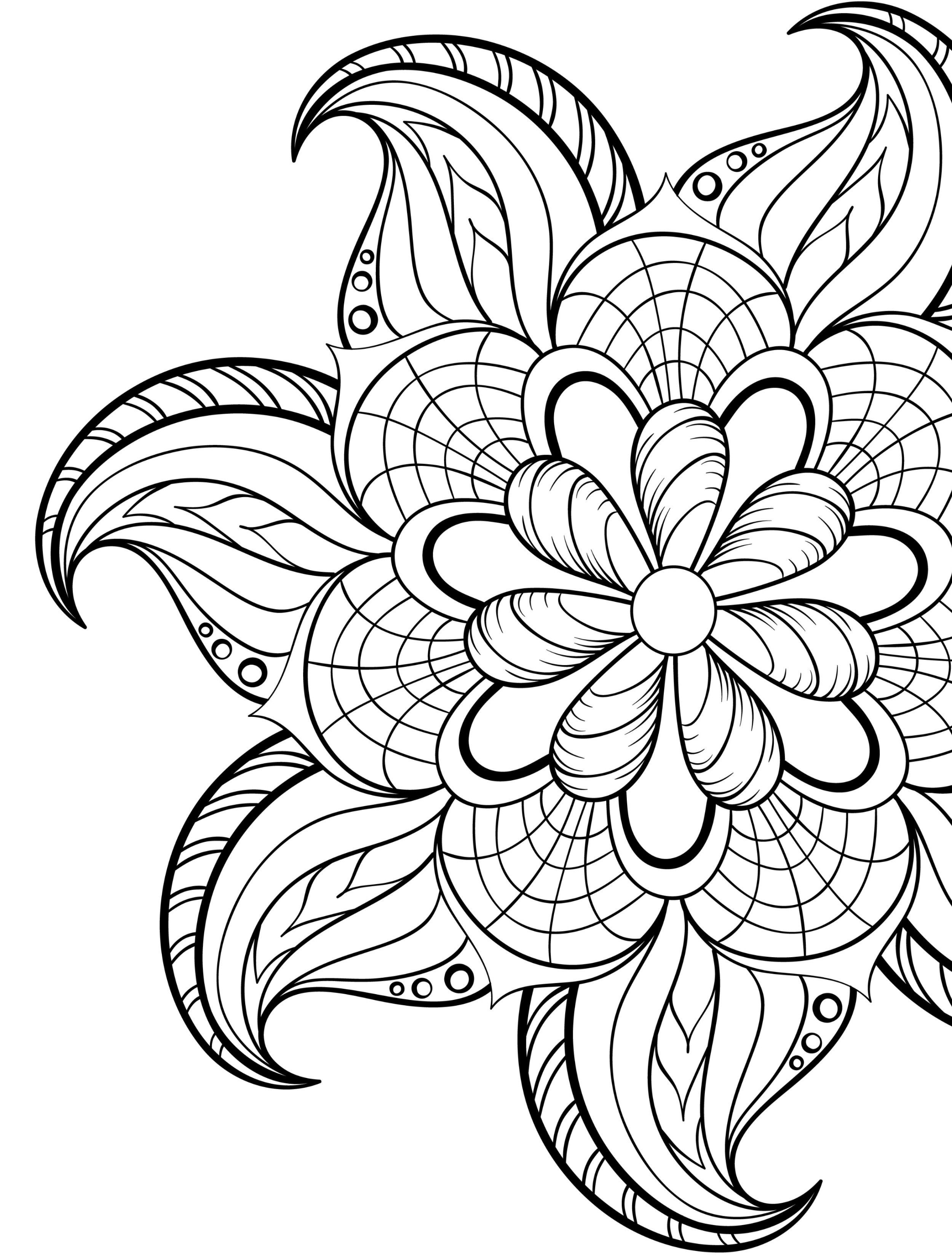 20 Gorgeous Free Printable Adult Coloring Pages | Color