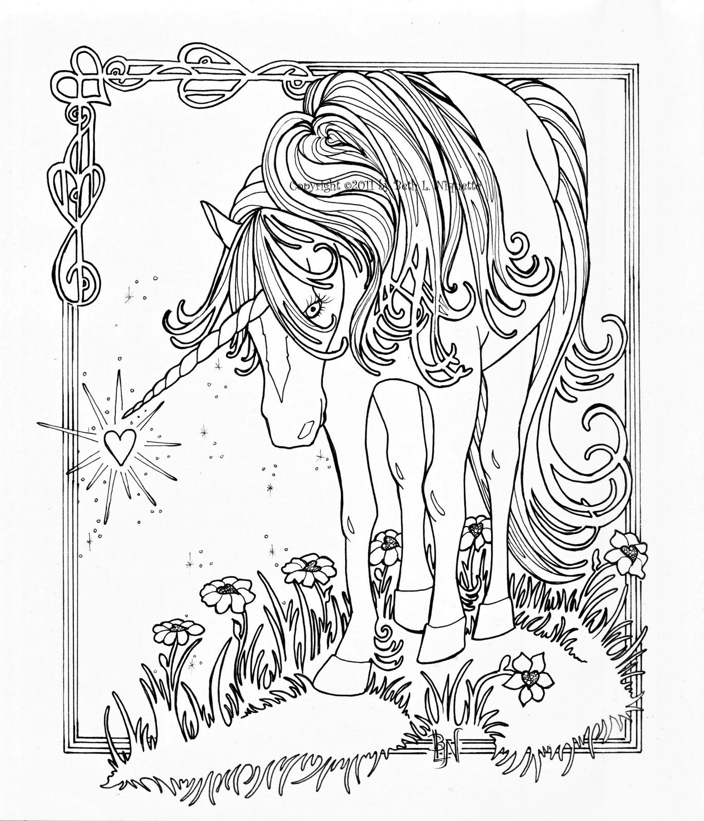 Unicorn Coloring Pages For Adults   Unicorn With Wings