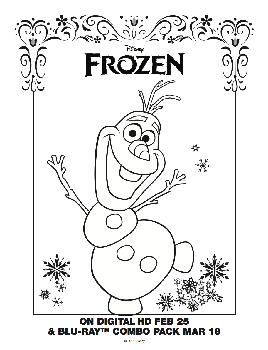 Disney Frozen Olaf Coloring Sheet #disneyfrozen | Free