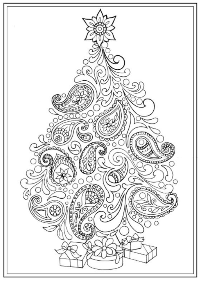 Creative Haven Christmas Trees Coloring Book, Dover