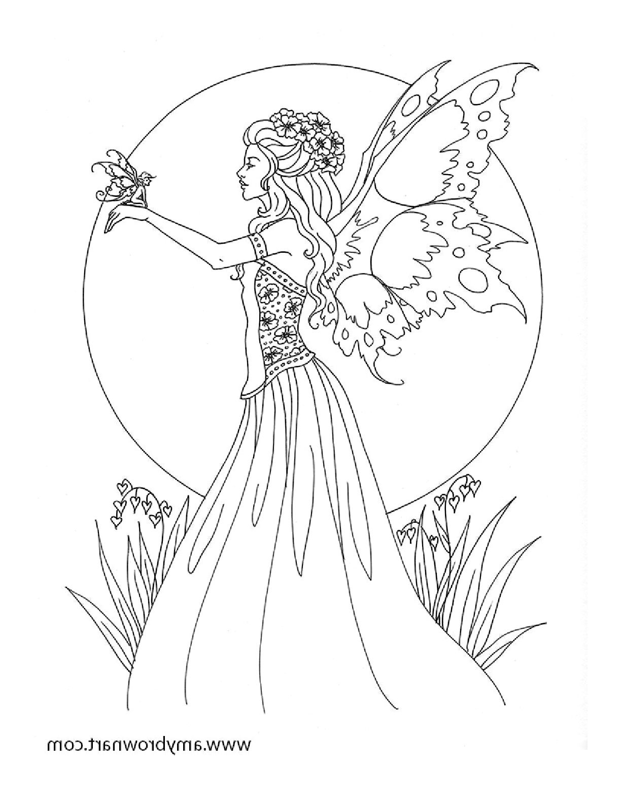 Free Fairy Coloring Pages | Fairies | Fairy Coloring Pages