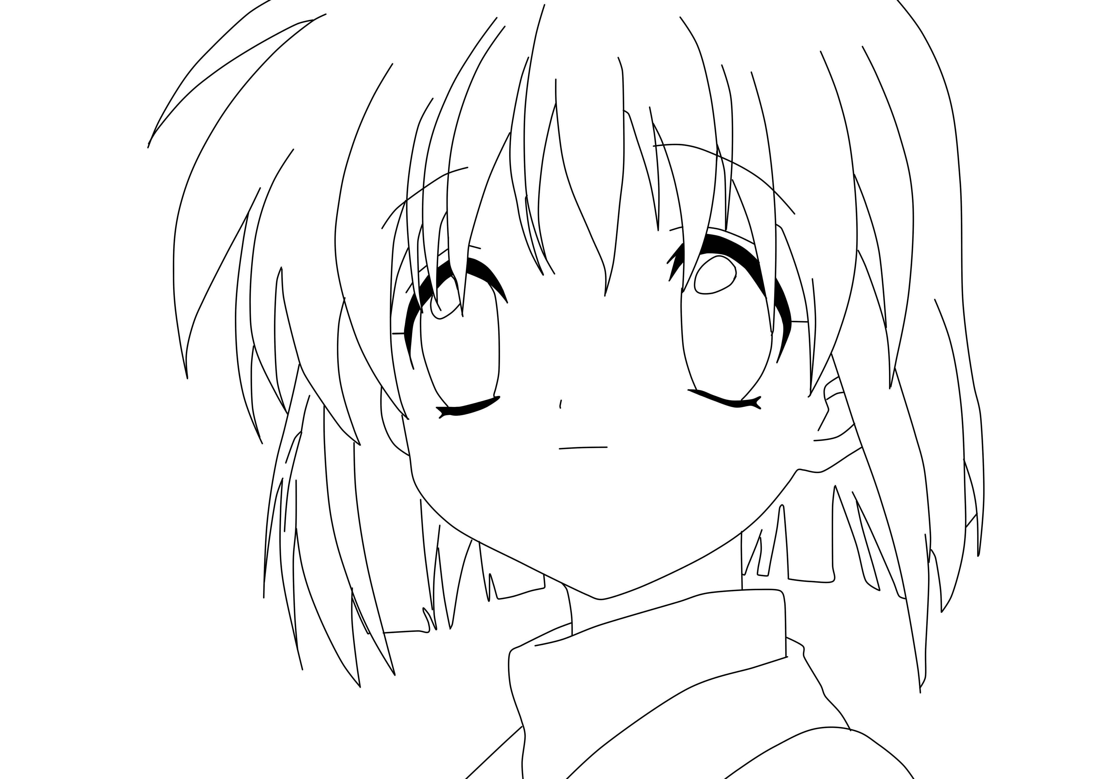 Nice Anime Girl Coloring Pages Special Picture | Colouring Pages