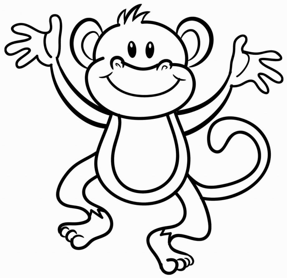 Monkey Coloring Page | Coloring Pages | Monkey Coloring