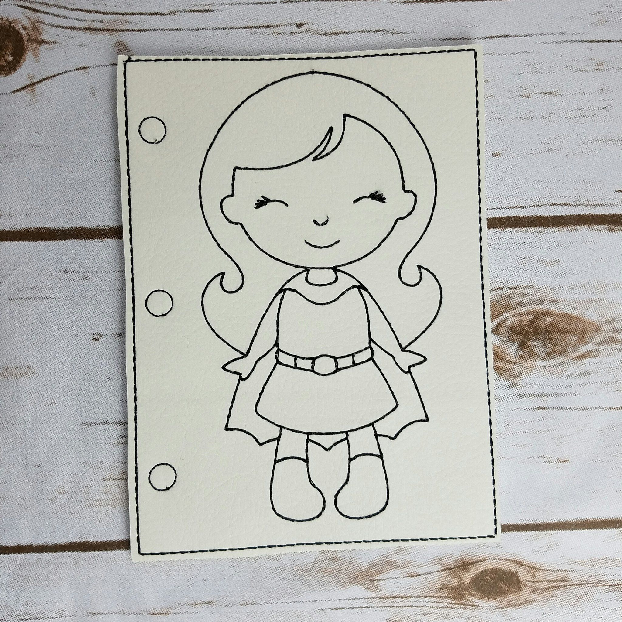 Travel Busy Book - Coloring Pages - Super Girls | Products