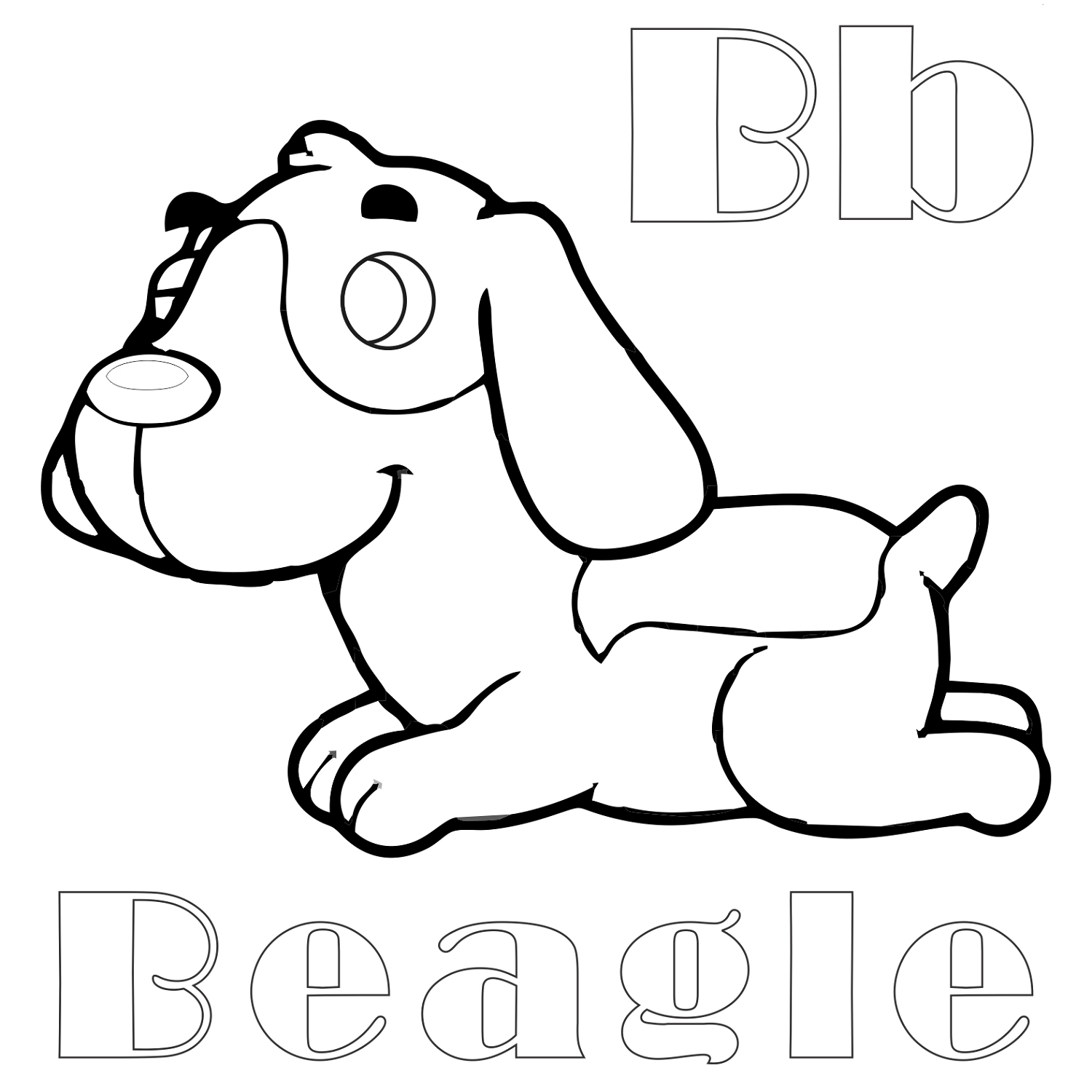 Beagle Coloring Pages For Kids | Printable Shelter