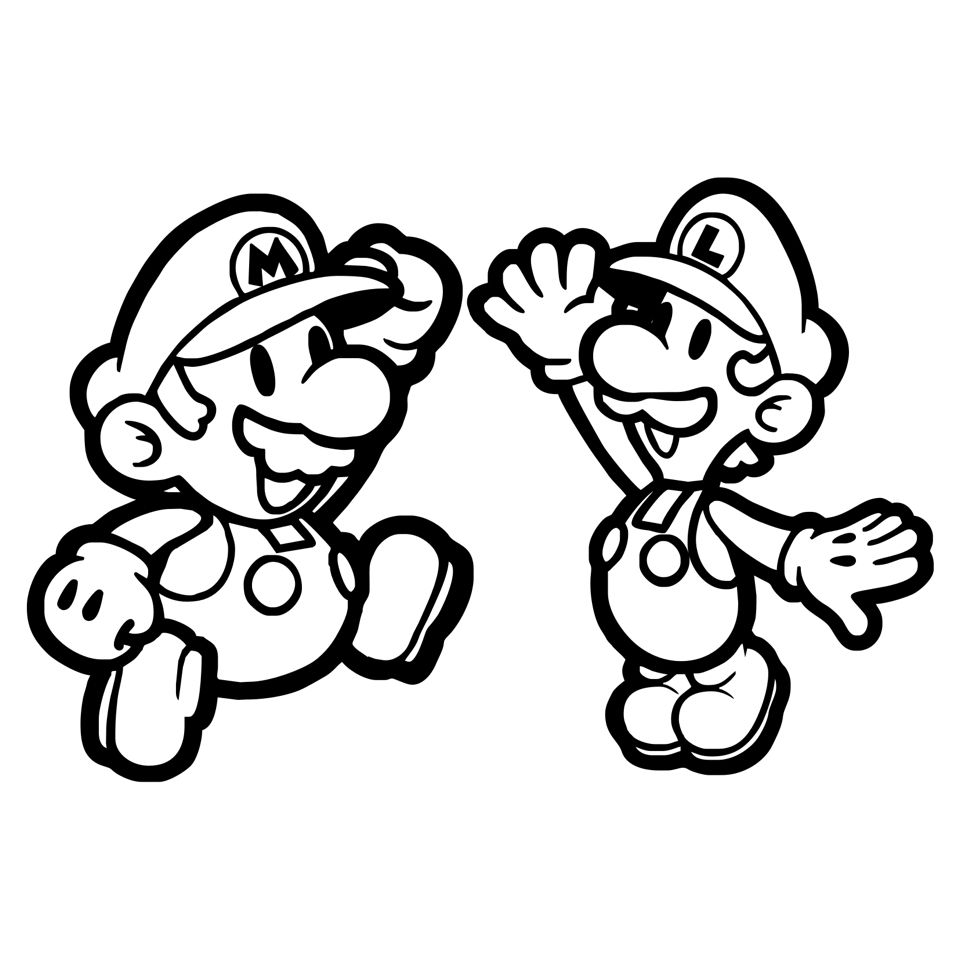 Coloring Sheet | Super Mario Brother's | Mario Coloring