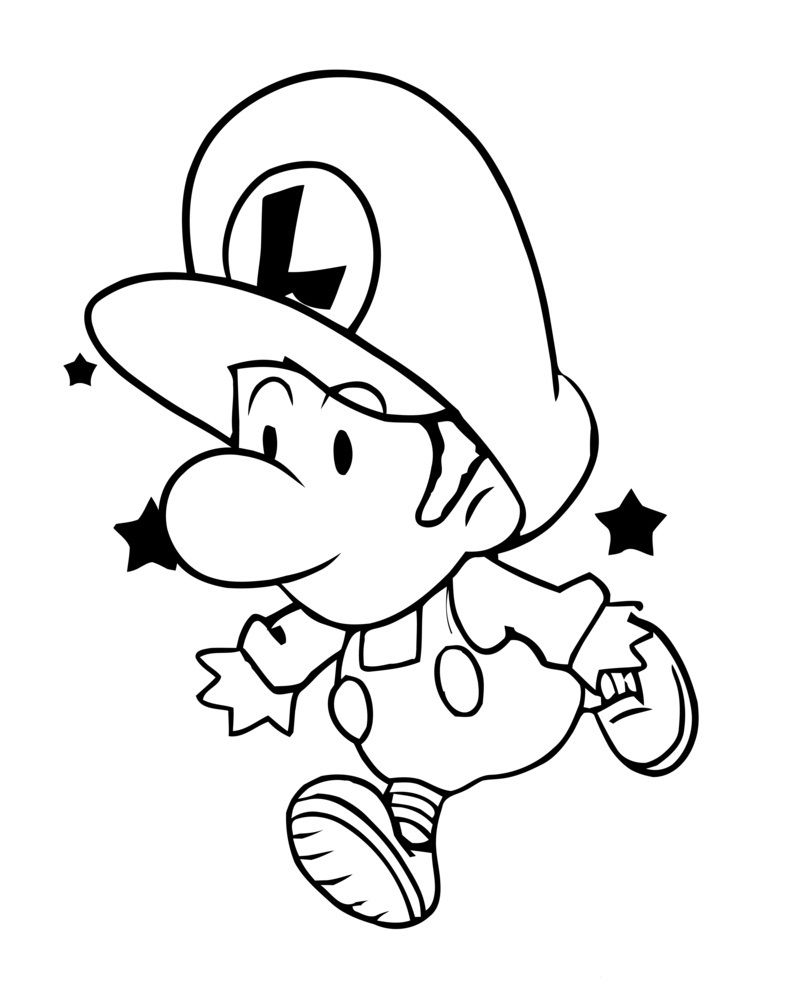 Free Printable Luigi Coloring Pages For Kids | Spider Web