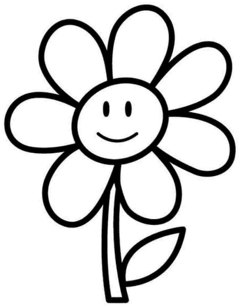 Flower Coloring Pages | Desenhos | Easy Coloring Pages