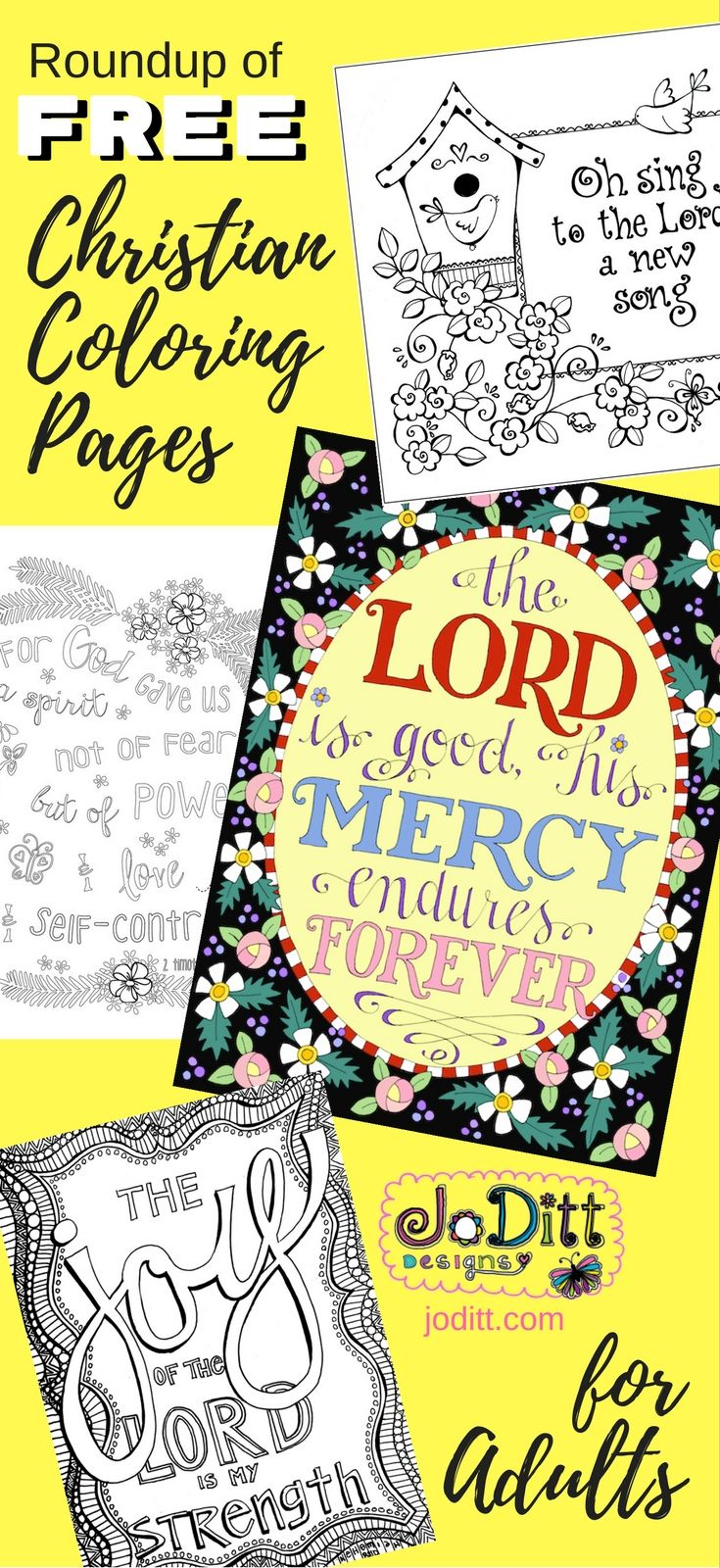 Free Christian Coloring Pages For Adults - Roundup | Faith