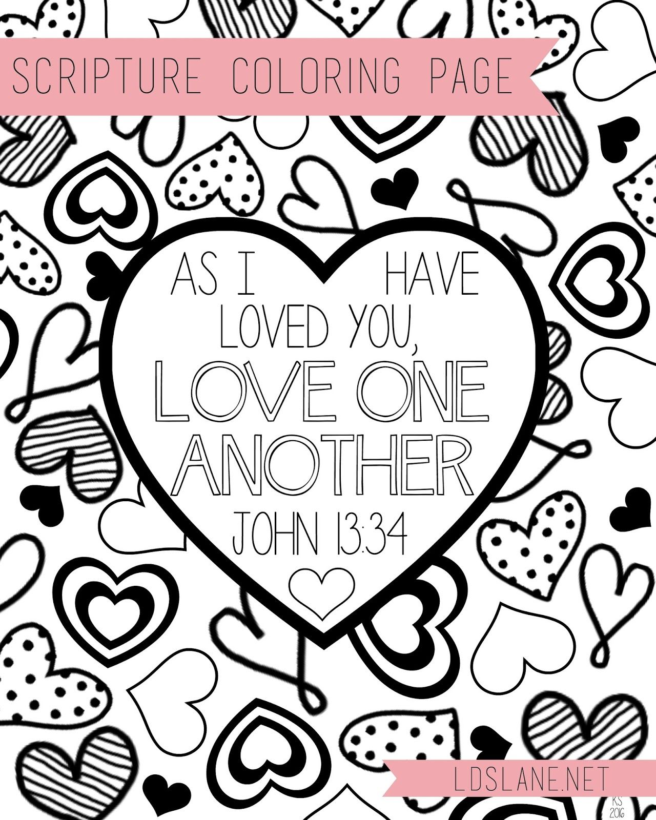 Scripture Coloring Page: Love One Another - Free Print At
