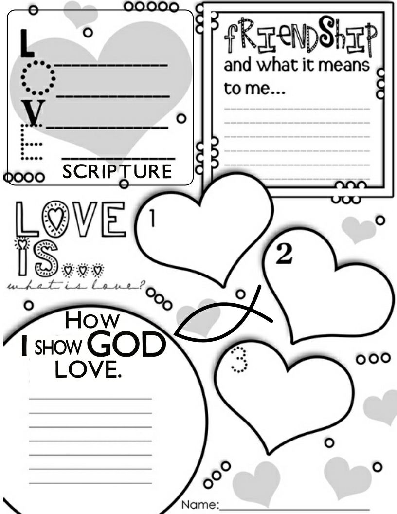 Christian Color Sheets On Love | Download Heart Coloring