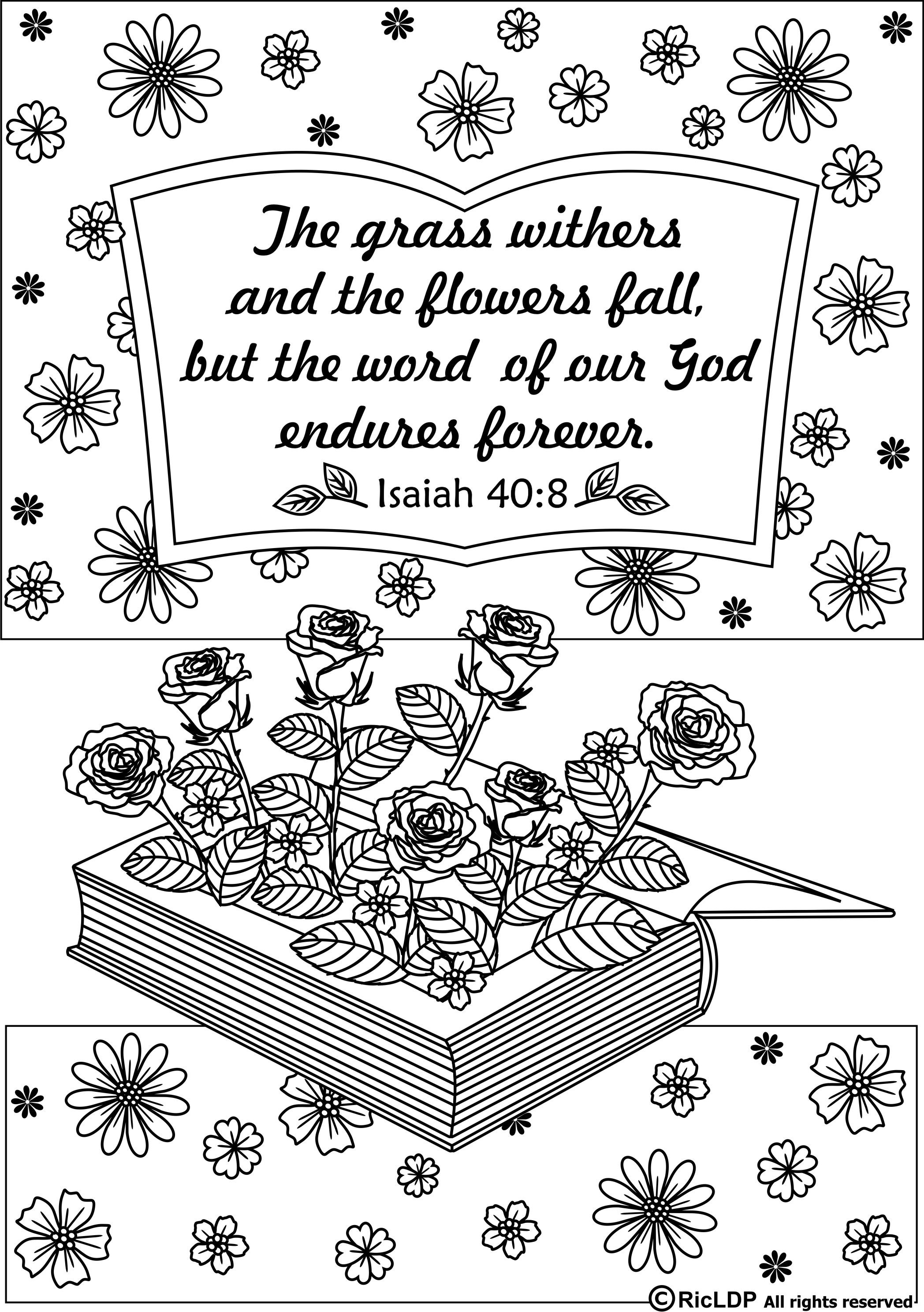 15 Bible Verses Coloring Pages | Coloring Pages | Bible