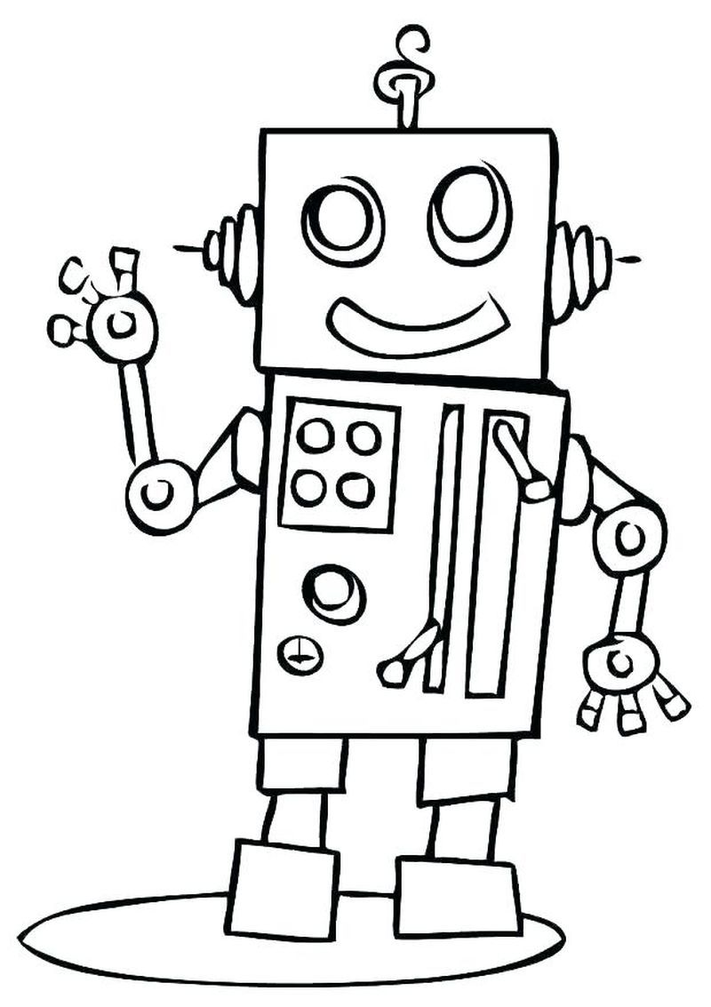 Robot Coloring Pages | Coloring Pages For Kids | Coloring