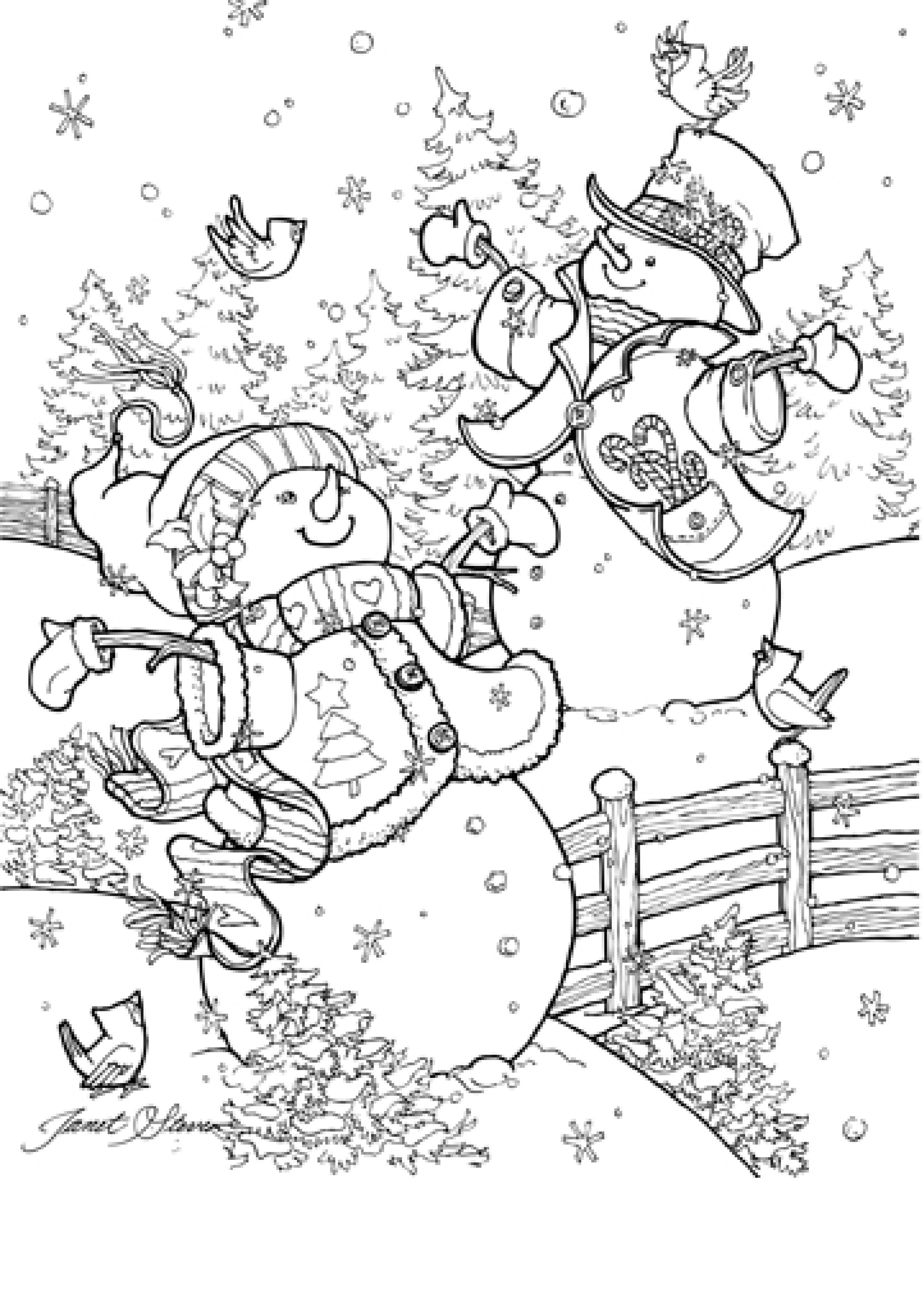 Janet Stever | Printables | Christmas Coloring Pages