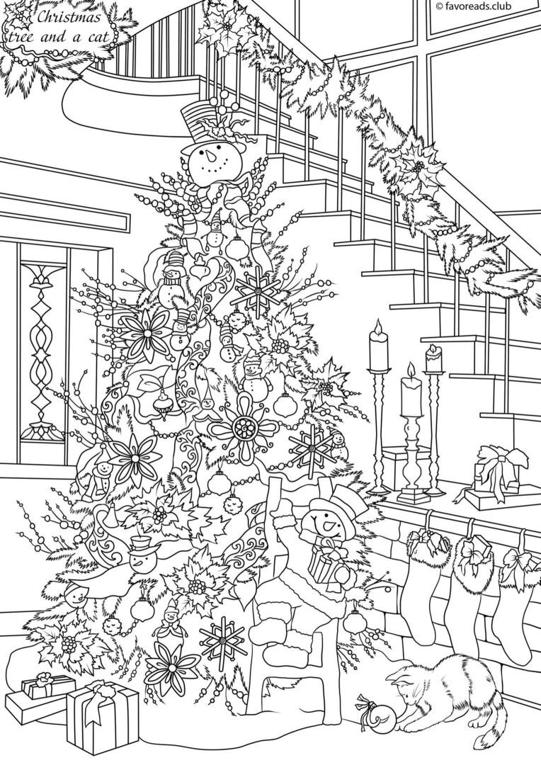 Christmas | Adult Coloring Pages | Free Christmas Coloring
