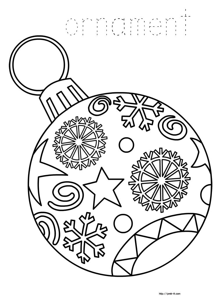 Ornament Coloring Page - Christmas   Christmas Fun