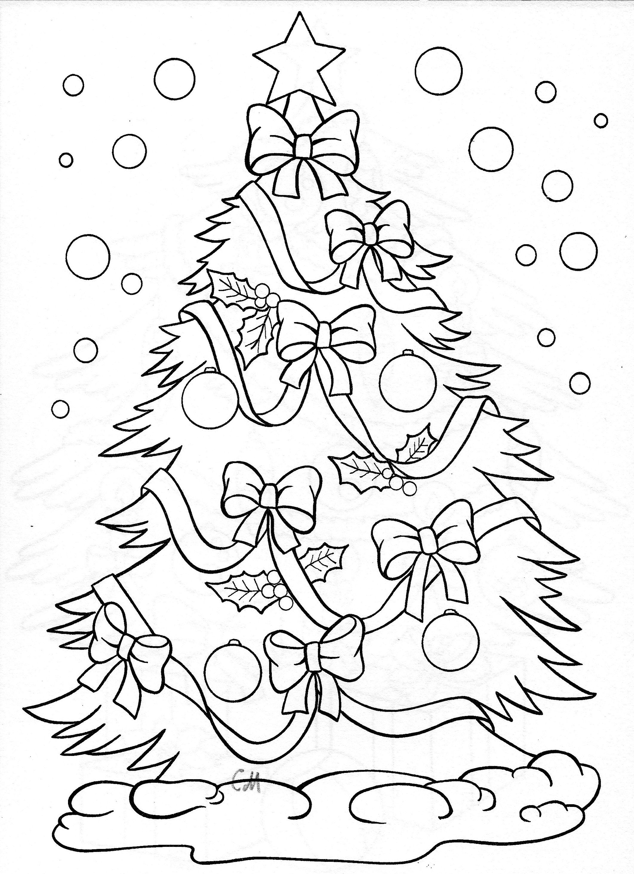 Christmas Tree - Coloring Page | Doodle Art | Christmas