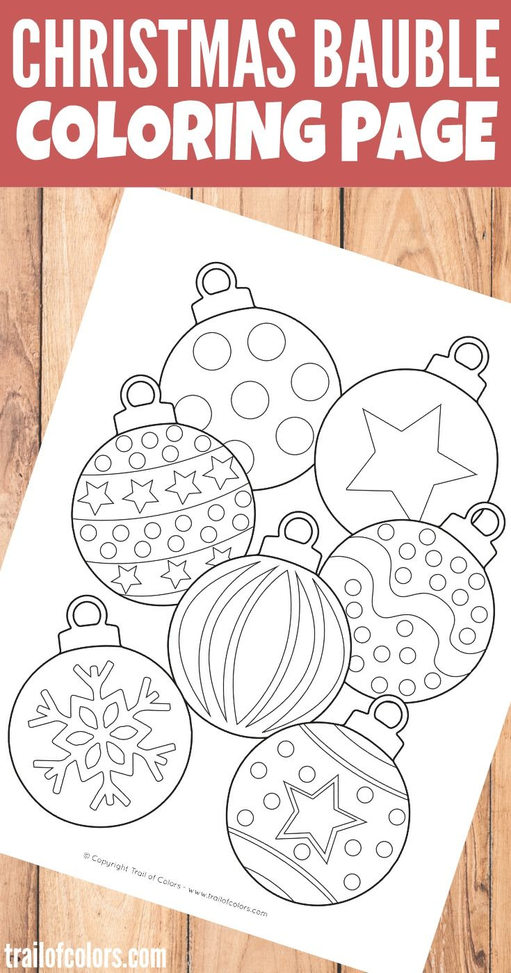Christmas Bauble Coloring Page For Kids | Christmas