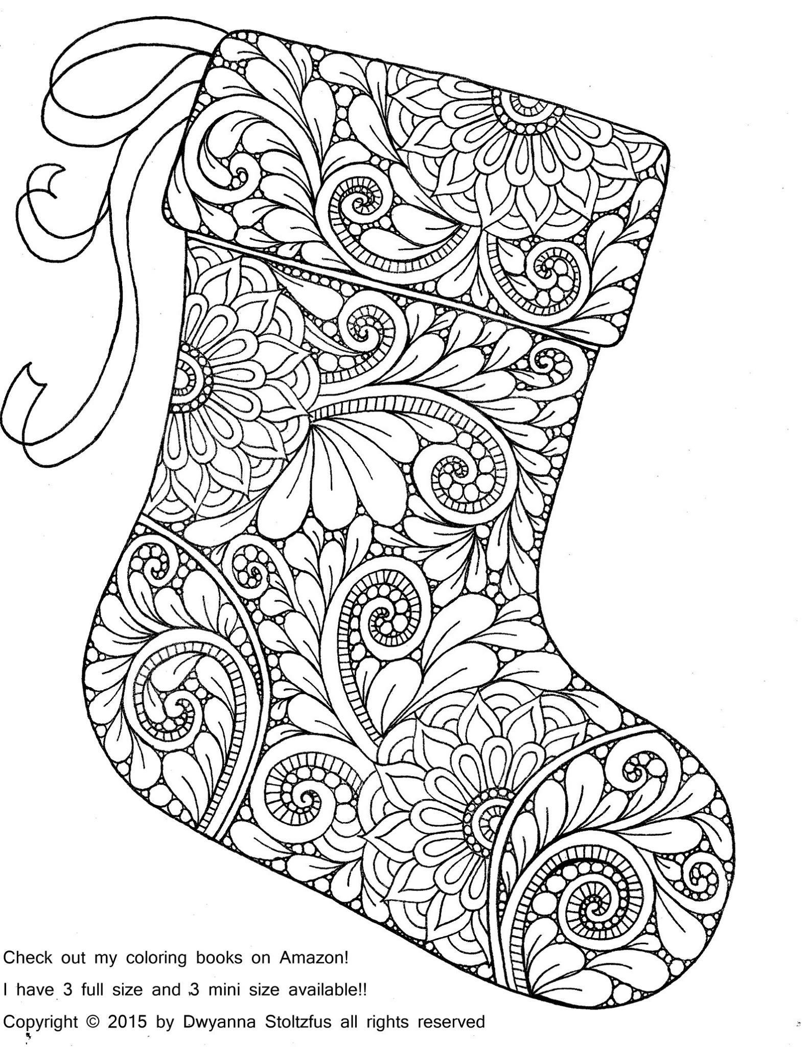 Christmas Stocking Coloring Page   School's Out For Summer