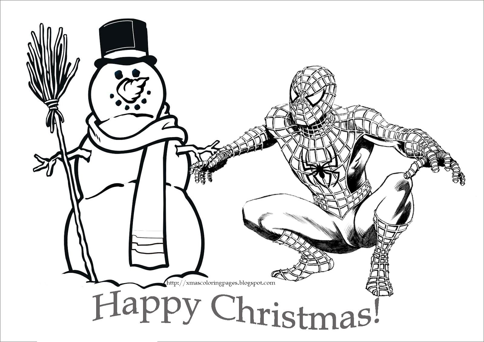 Spiderman Coloring Pages Spiderman Christmas Coloring Pages