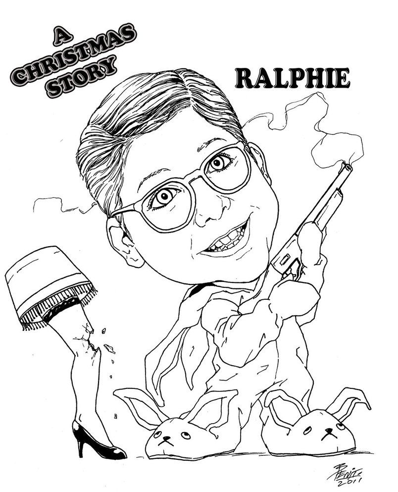 A Christmas Story Move Coloring Page | Christmas Story