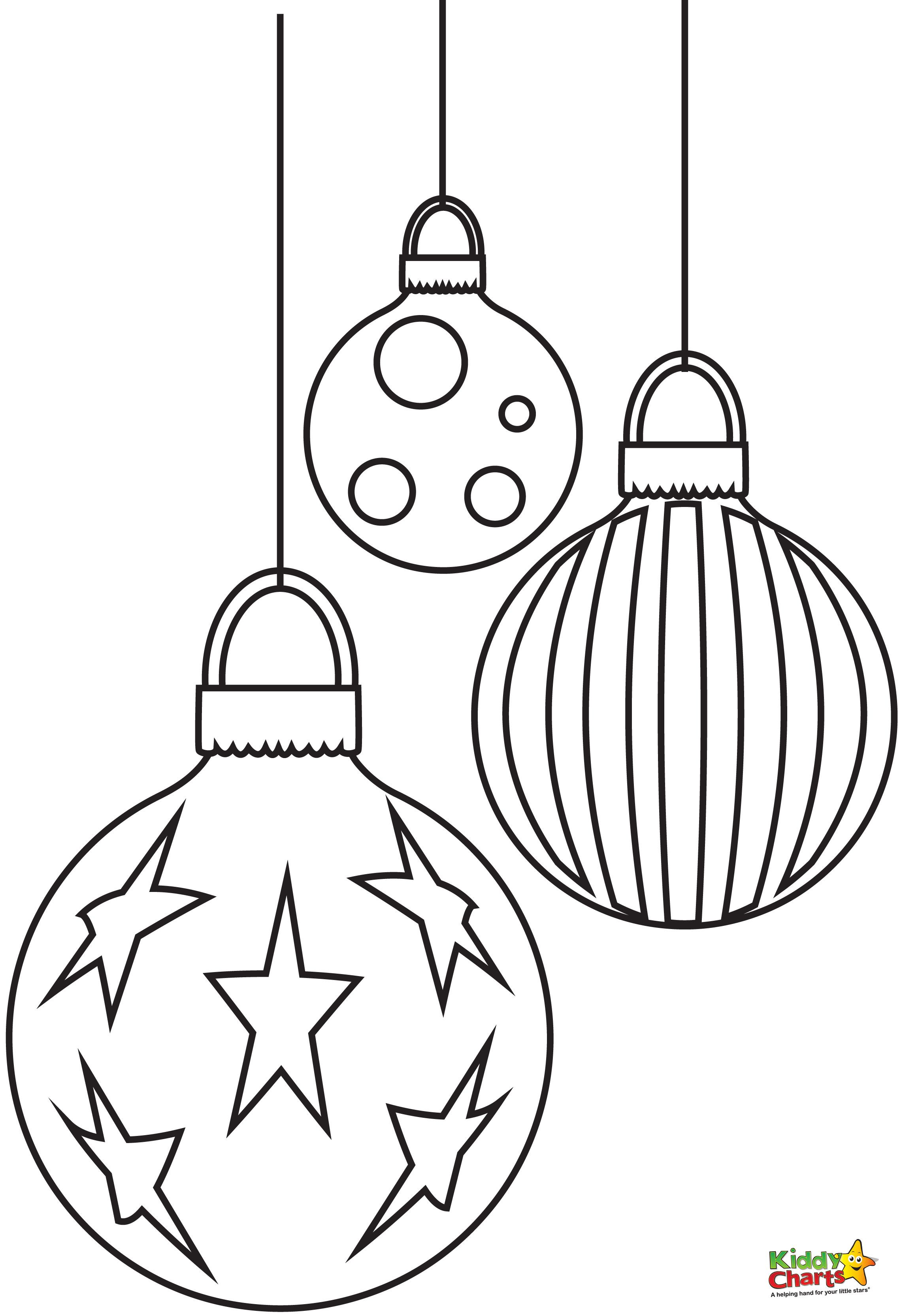 Baubles - Free Christmas Coloring Pages From | Winter Art